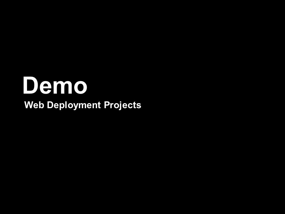 Demo Web Deployment Projects
