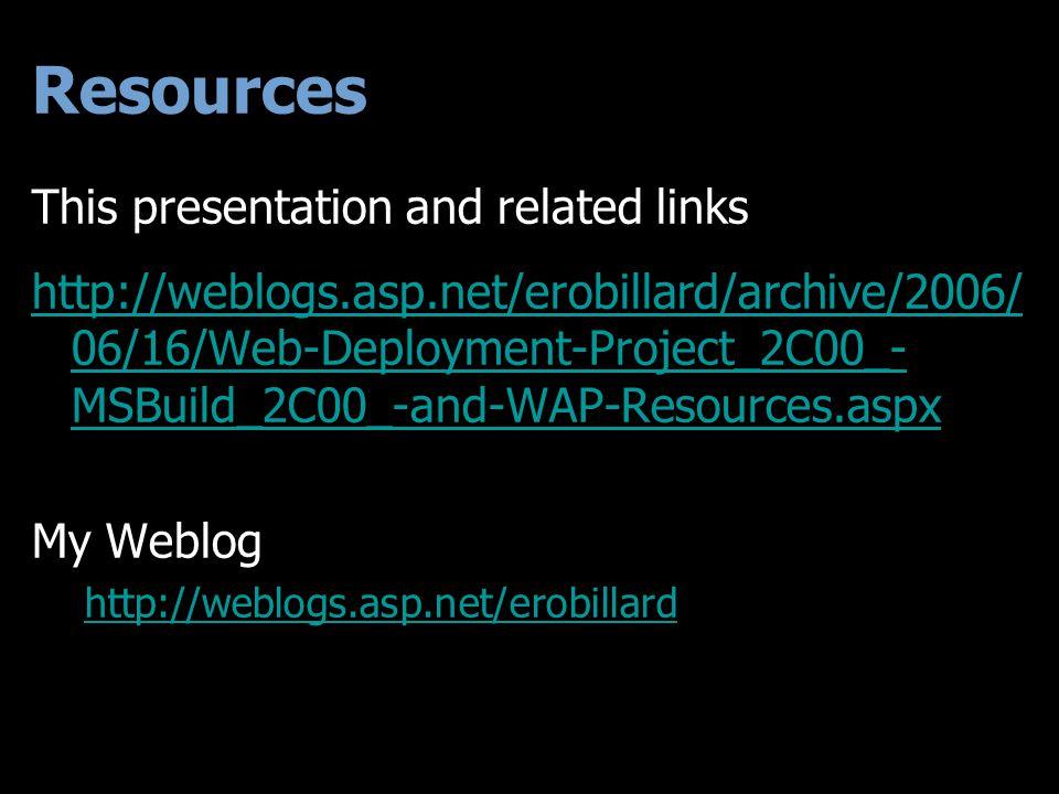 Tonight VS 2005 Web Project System. MSBuild. Web Deployment Projects.