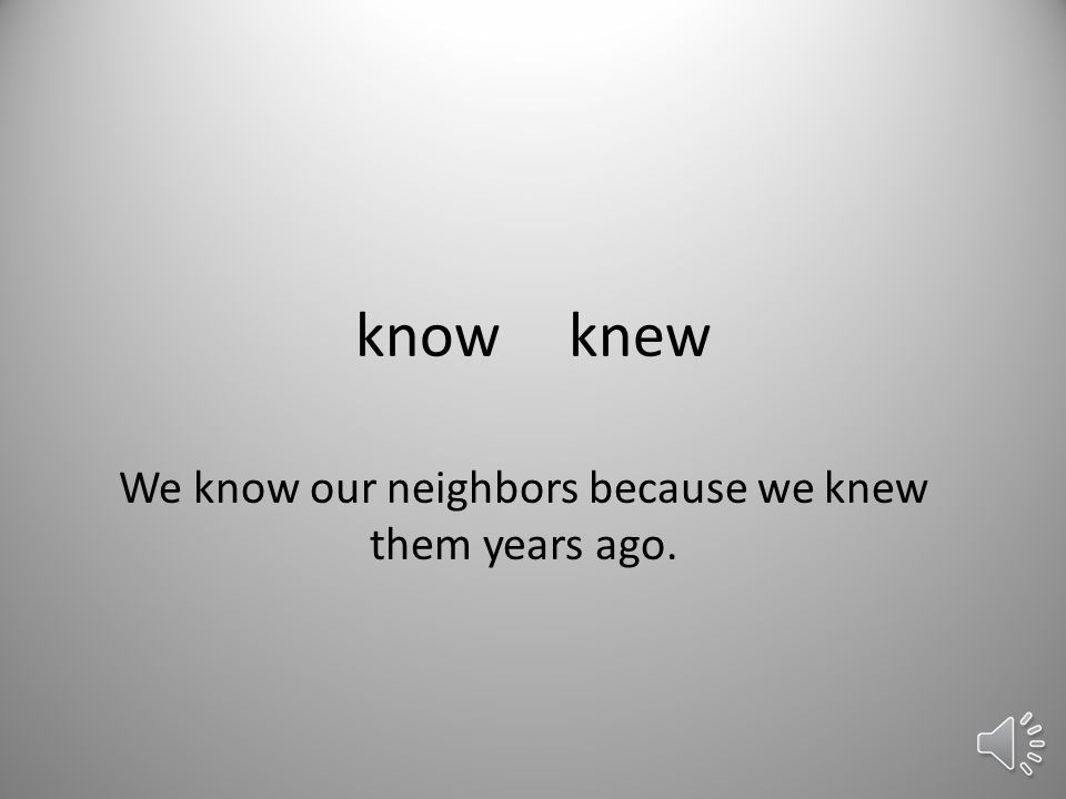 knowknew We know our neighbors because we knew them years ago.