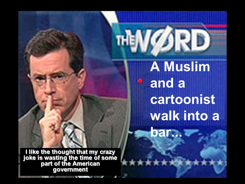 A Muslim and a cartoonist walk into a bar...