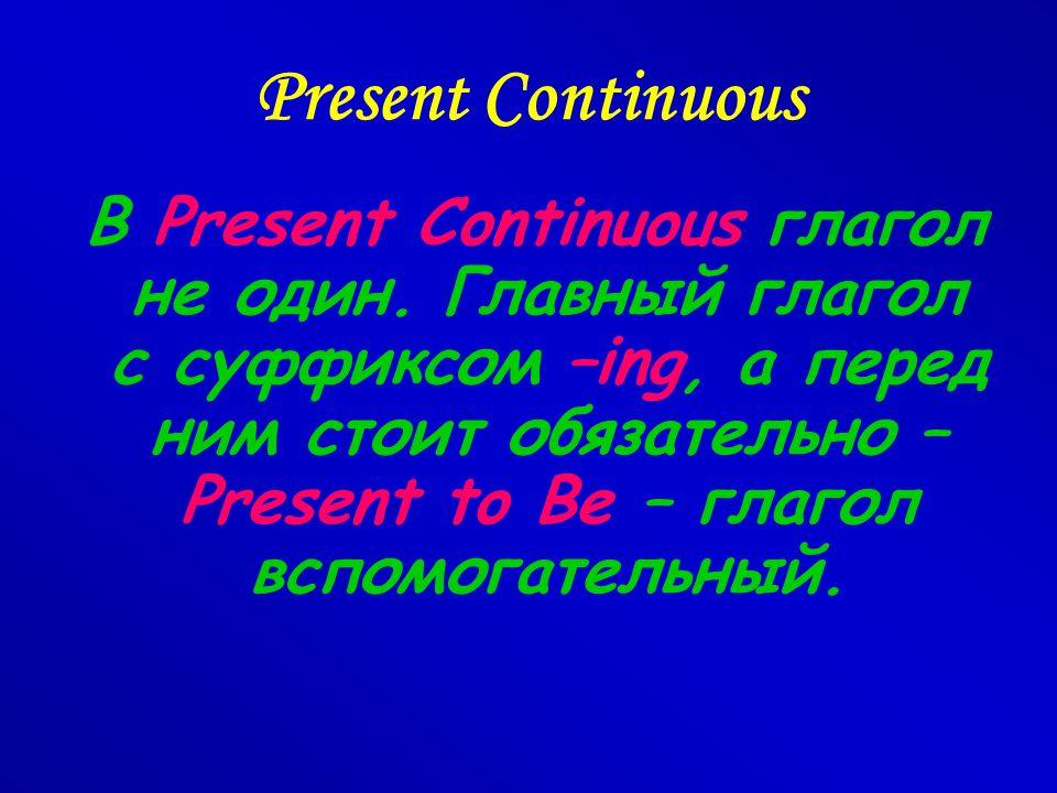 Present Continuous (настоящее длительное) Употребление: Действие происходит в момент говорения.