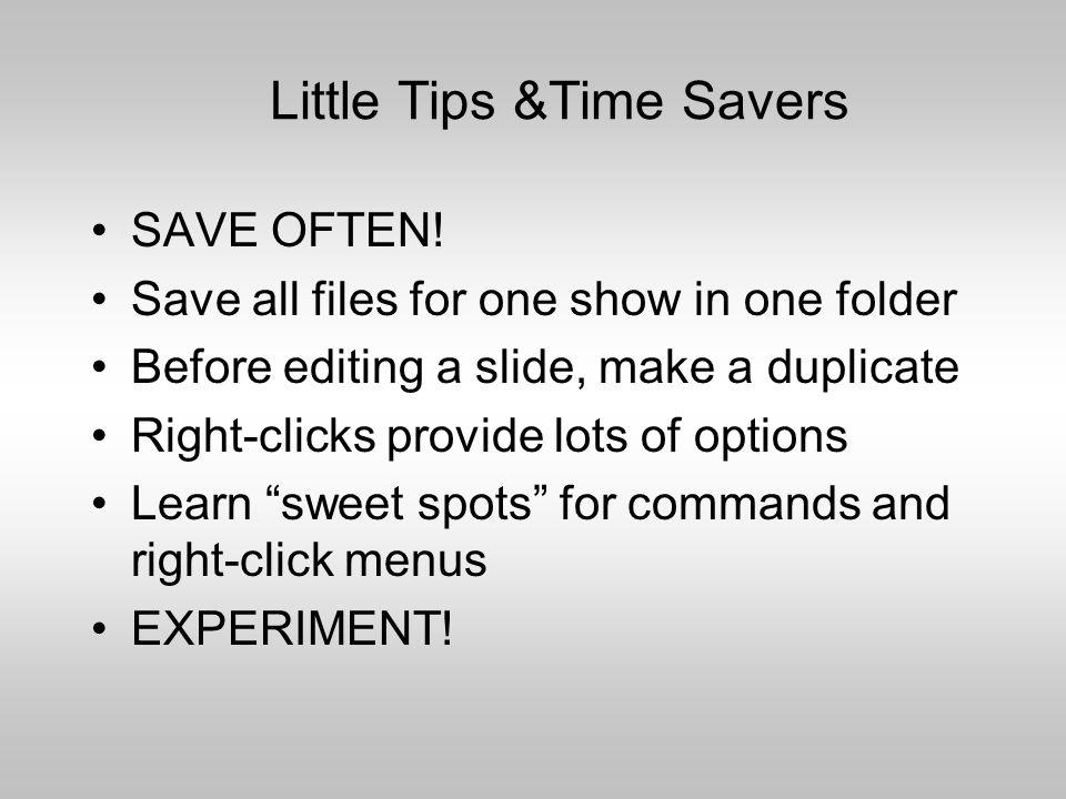 Transitions between slides Choose Slide Transition on the task pane for action between slides.