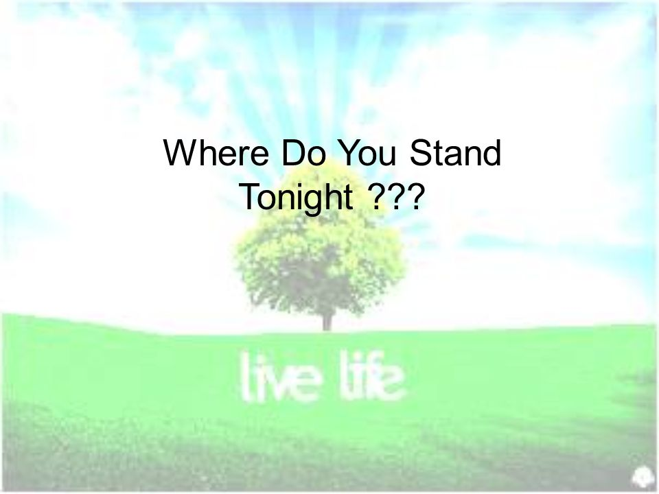 Where Do You Stand Tonight
