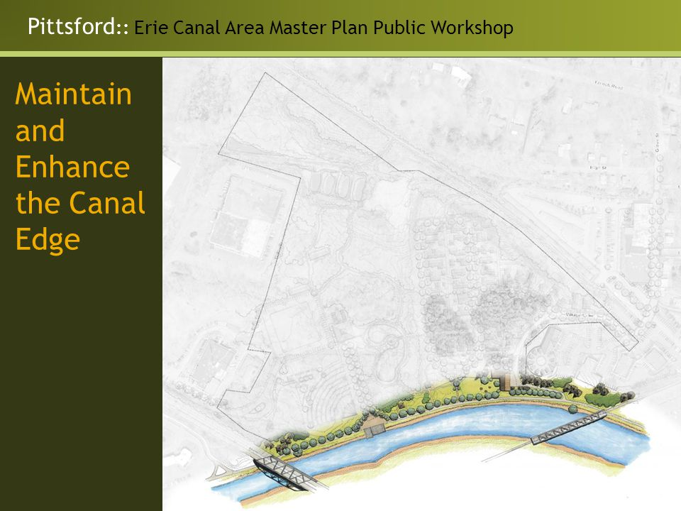 Maintain and Enhance the Canal Edge