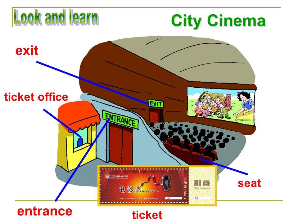 City Cinema entrance exit ticket ticket office seat