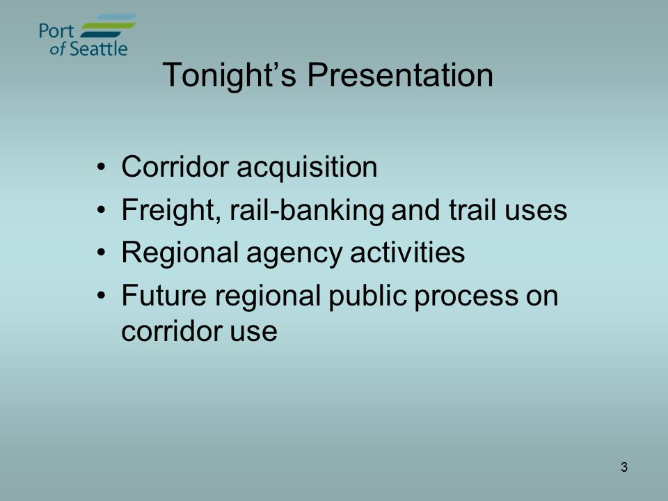 4 Eastside Rail Corridor Goals Place regional asset into public ownership Preserve corridor for public access trail and transportation uses A public/private partnership for regional mobility and economic vitality Engage in robust and thorough public process about the corridor's future use