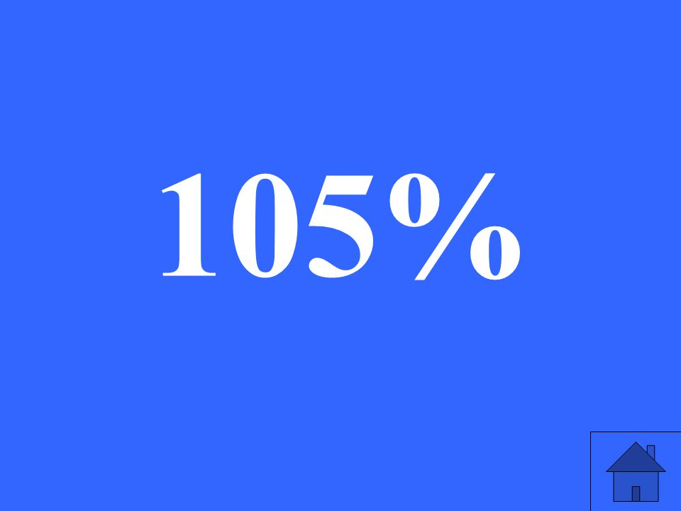 What is 1.05 as a percent