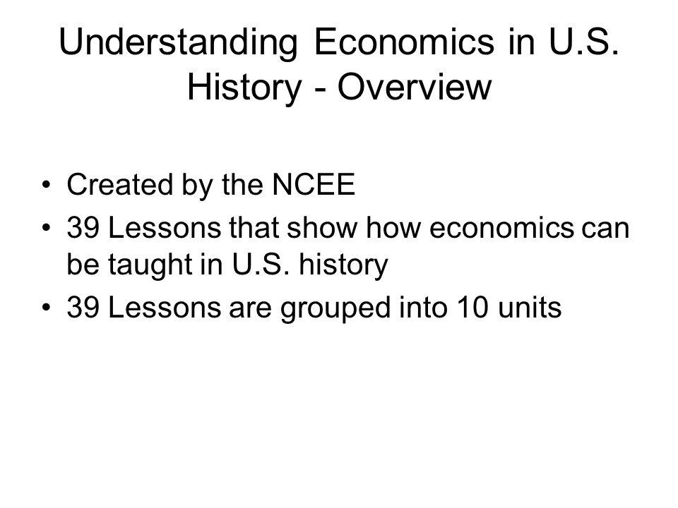 Understanding Economics in U.S.