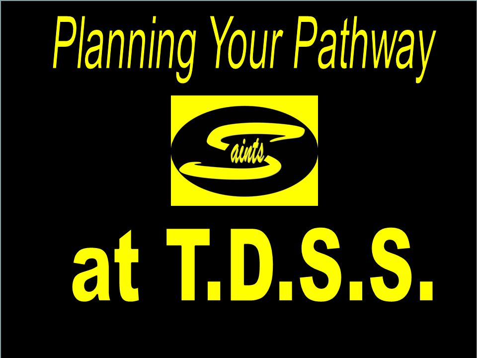 myBlueprint At TDSS we use an online web-based tool for course selection and individual pathway planning activities.
