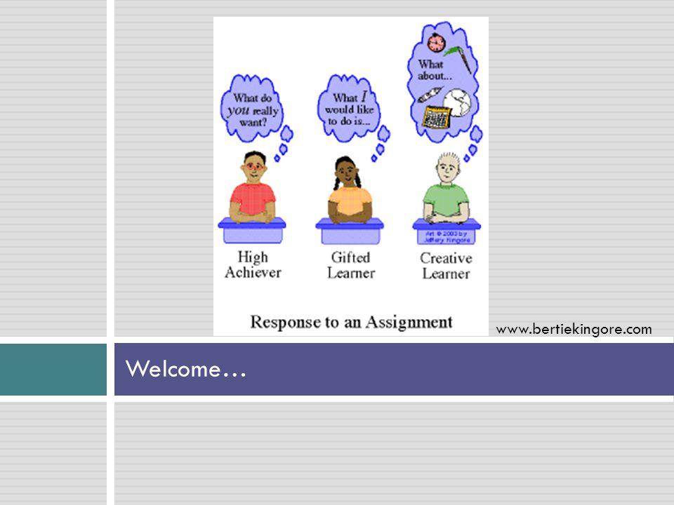 Welcome… www.bertiekingore.com