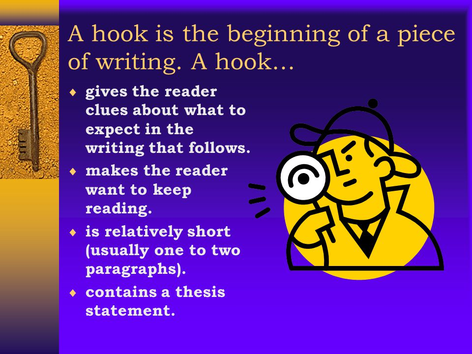 The Announcement Hook  The writer tells the reader what he or she is going to say about the issue or situation and takes a strong attitude  You may want to use this lead if you feel very strongly about your topic and can use convincing language to get your point across.