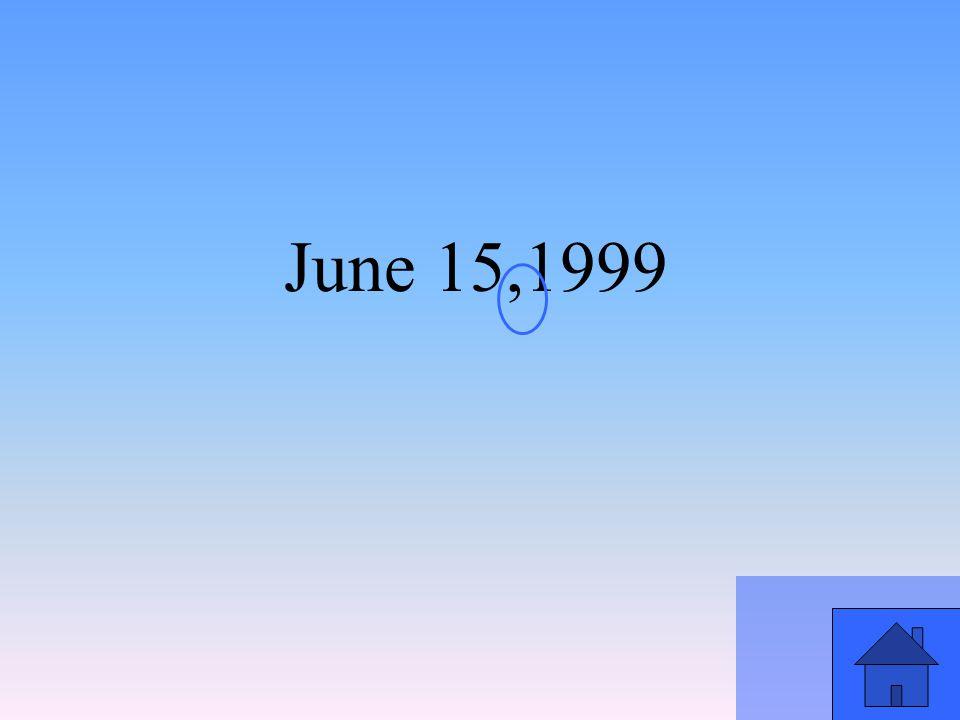 June 15,1999