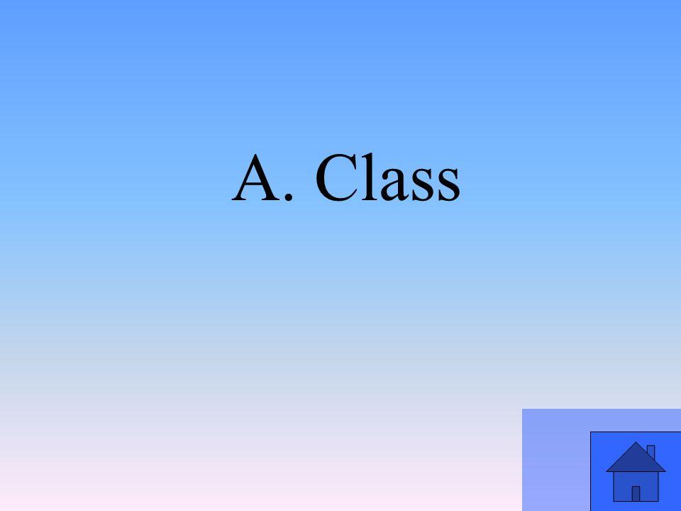 A. Class