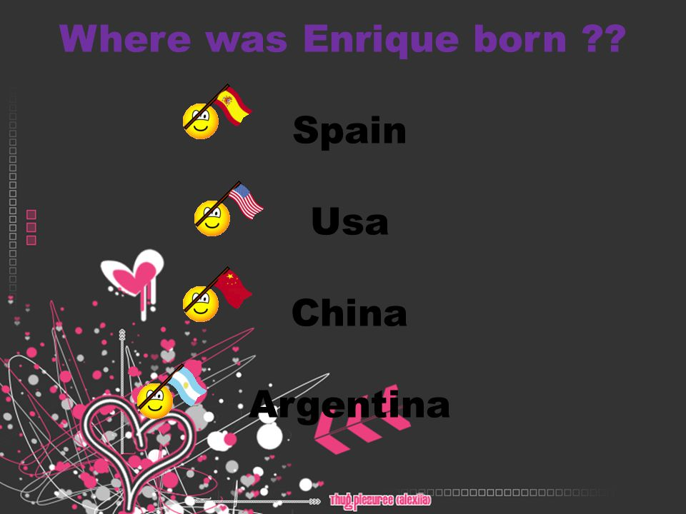 What are the Names of Enrique s parents .