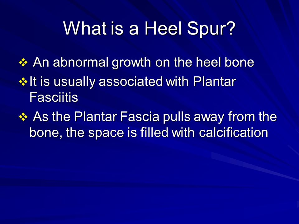 What is a Heel Spur.