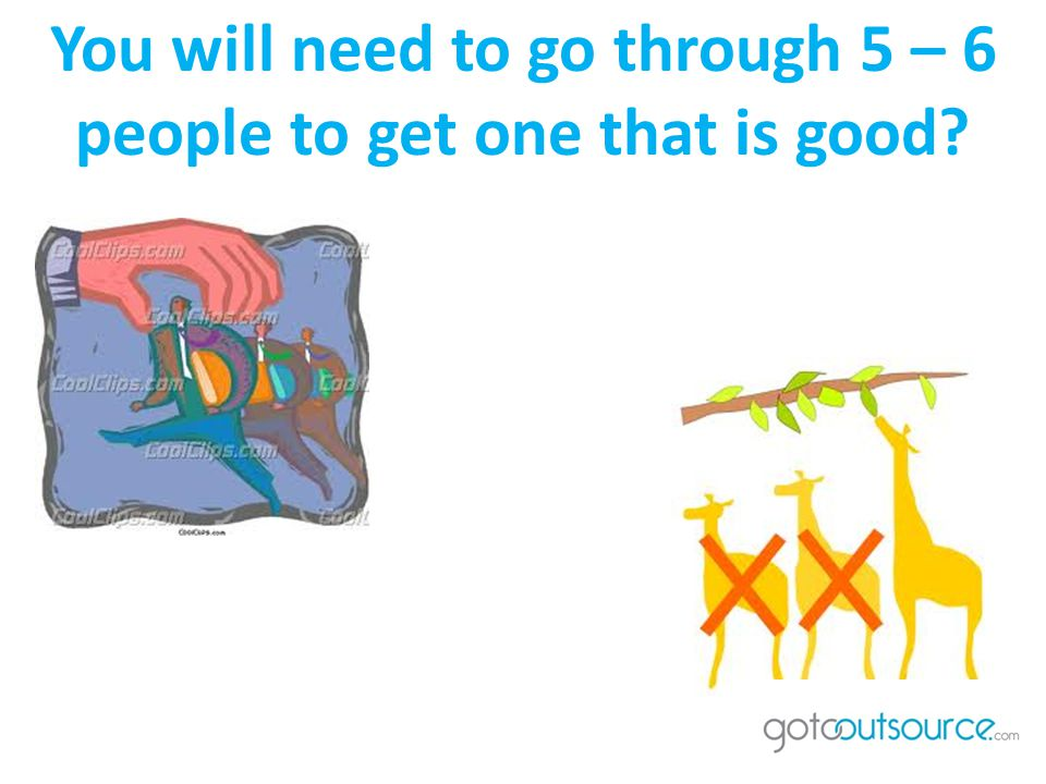 You will need to go through 5 – 6 people to get one that is good
