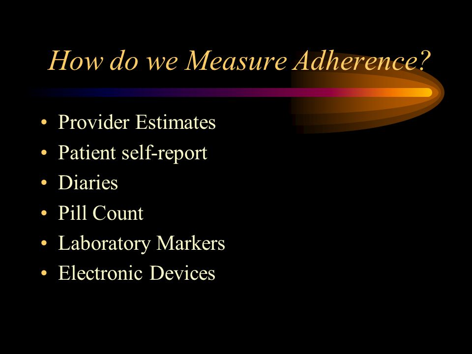 How do we Measure Adherence.