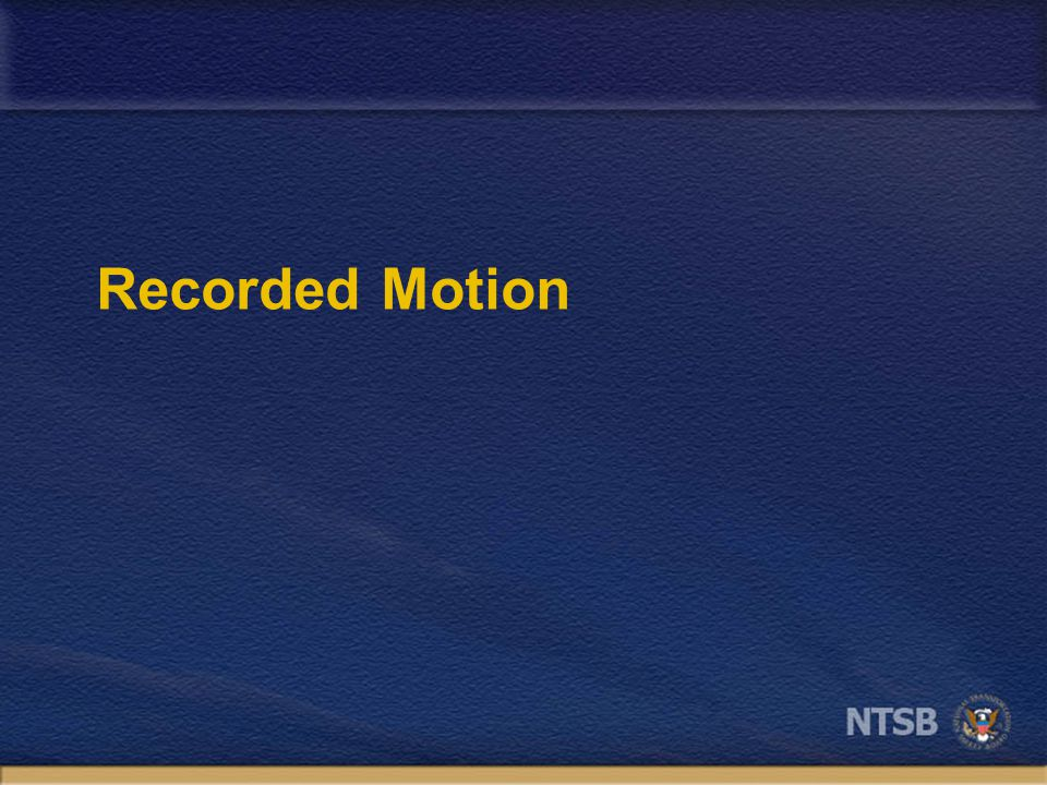Recorded Motion