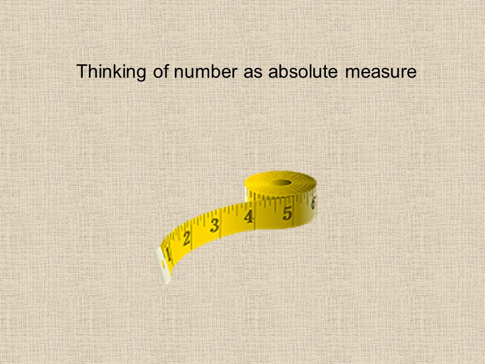 Thinking of number as absolute measure