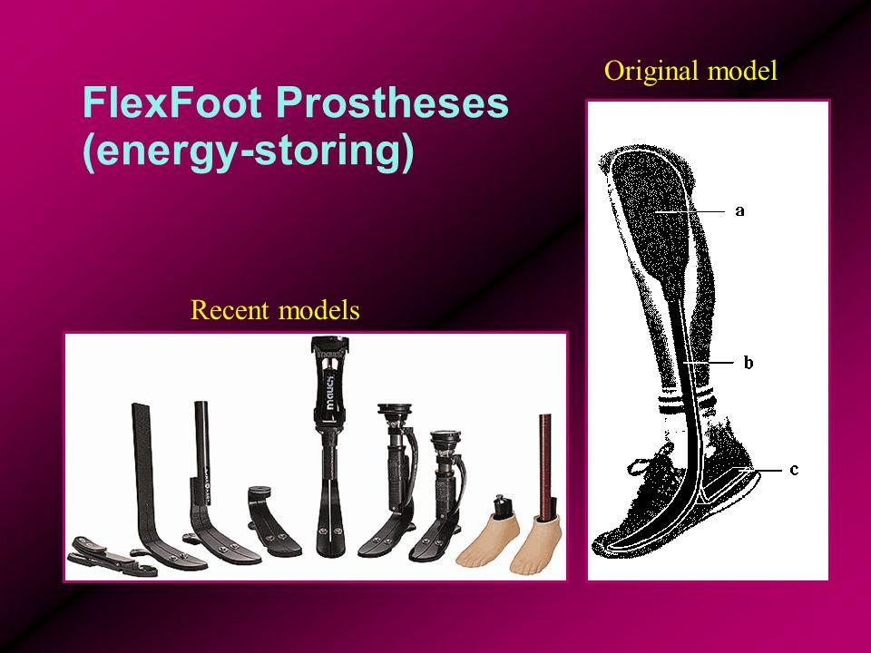 FlexFoot Prostheses (energy-storing) Recent models Original model