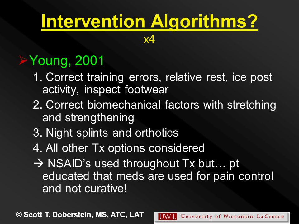 Intervention Algorithms. x4   Young, 2001 1.
