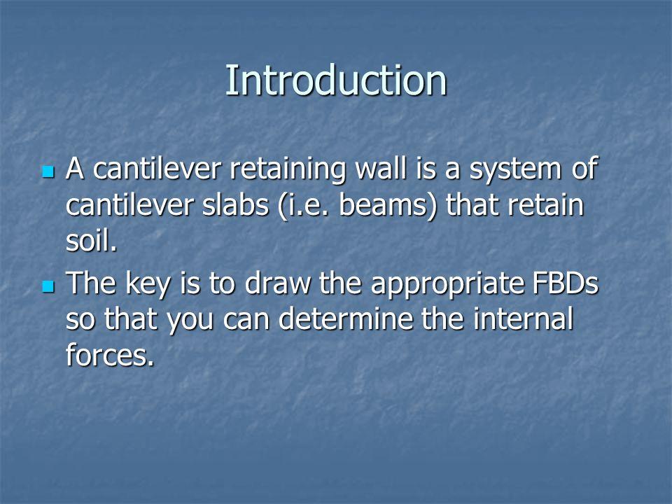 Cantilever Retaining Wall Shear Key Toe Stem Heel