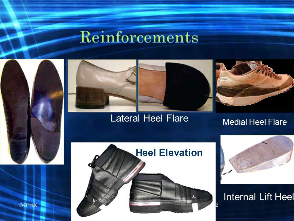 17/07/1436RHS 42212 Medial Heel Flare Lateral Heel Flare Internal Lift Heel Heel Elevation