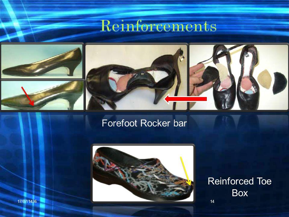 17/07/1436RHS 42214 Reinforced Toe Box Forefoot Rocker bar