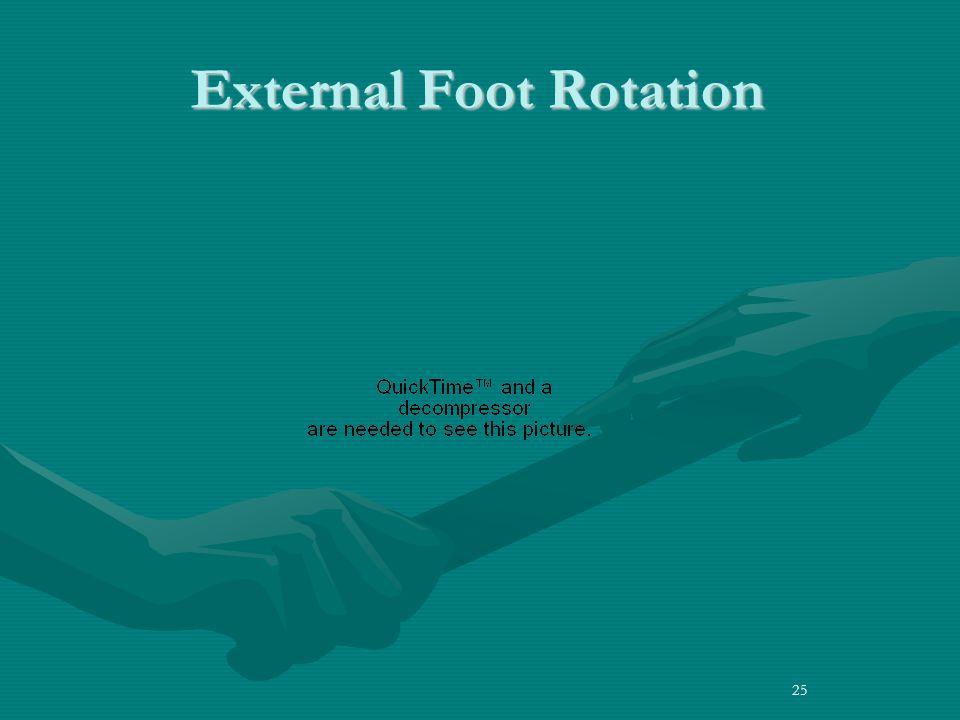 25 External Foot Rotation