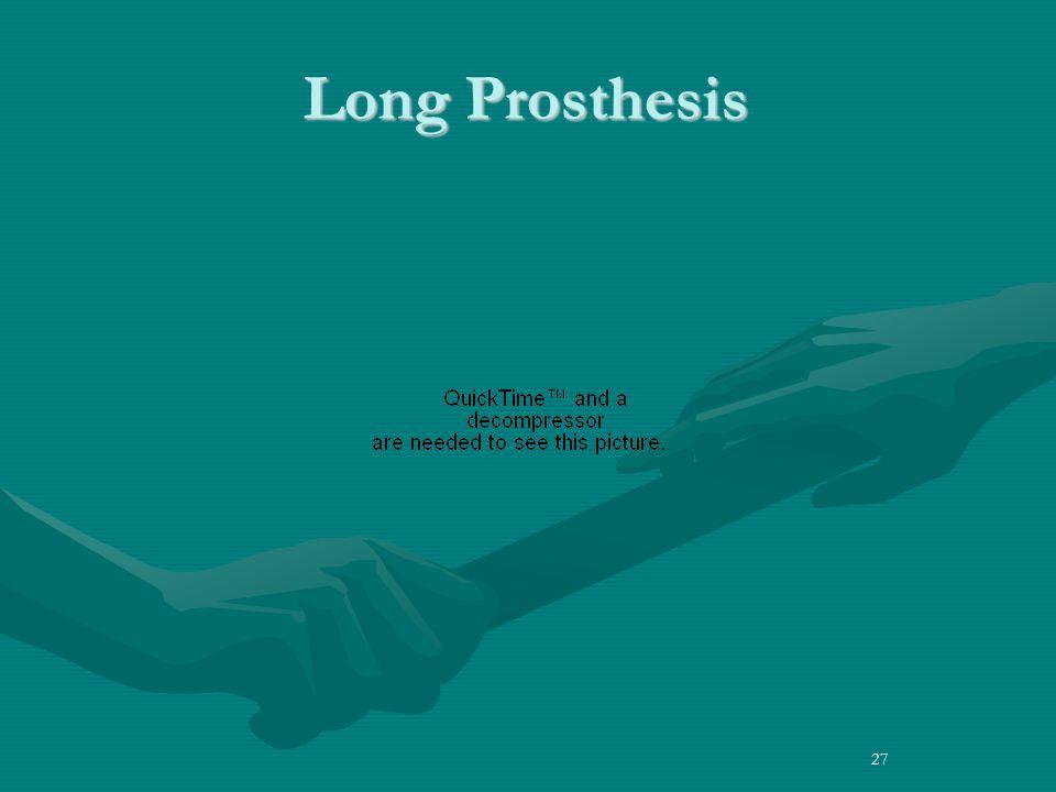 27 Long Prosthesis