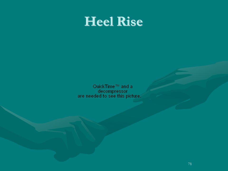 71 Heel Rise