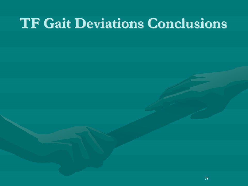 79 TF Gait Deviations Conclusions 79