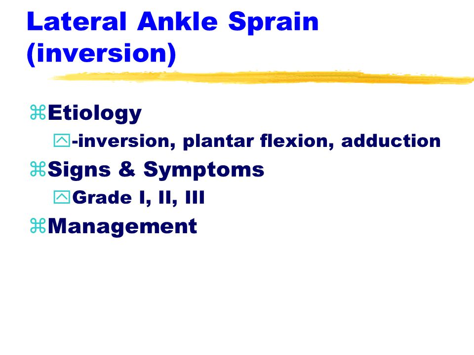 Conditions of Lower Leg & Ankle