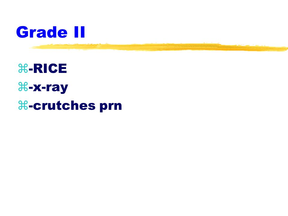 Grade I z-RICE z-horseshoe & wrap zgraduated exercises ROM, strength, proprioception