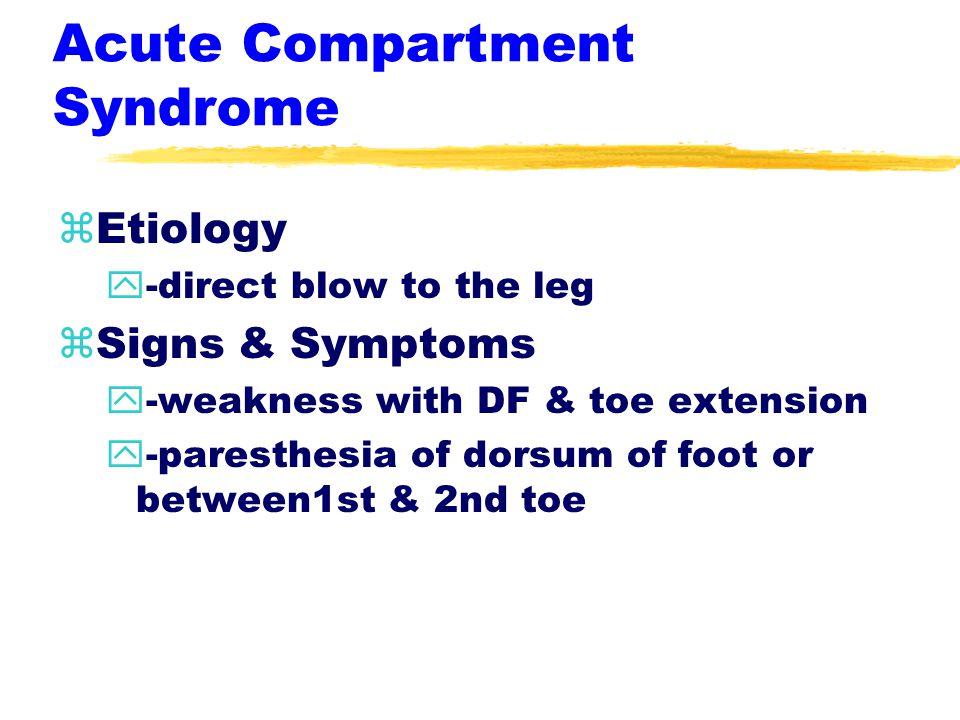 Acute Leg Injuries