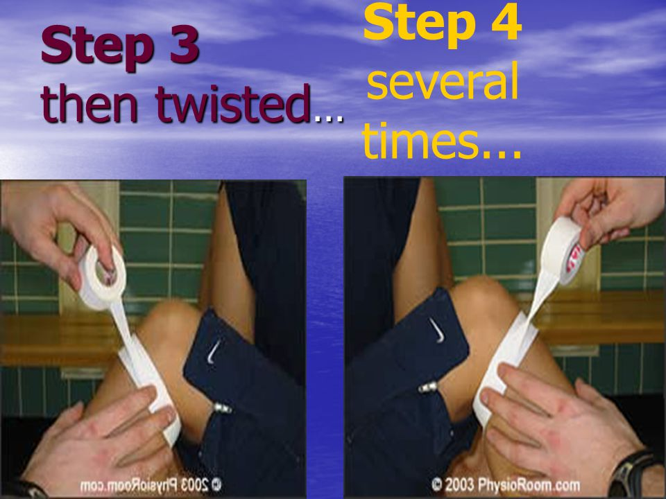 Step 3 then twisted... Step 4 several times...