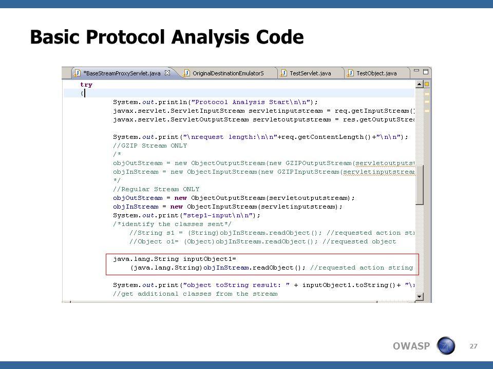 OWASP 27 Basic Protocol Analysis Code