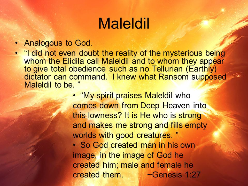 Maleldil Analogous to God.