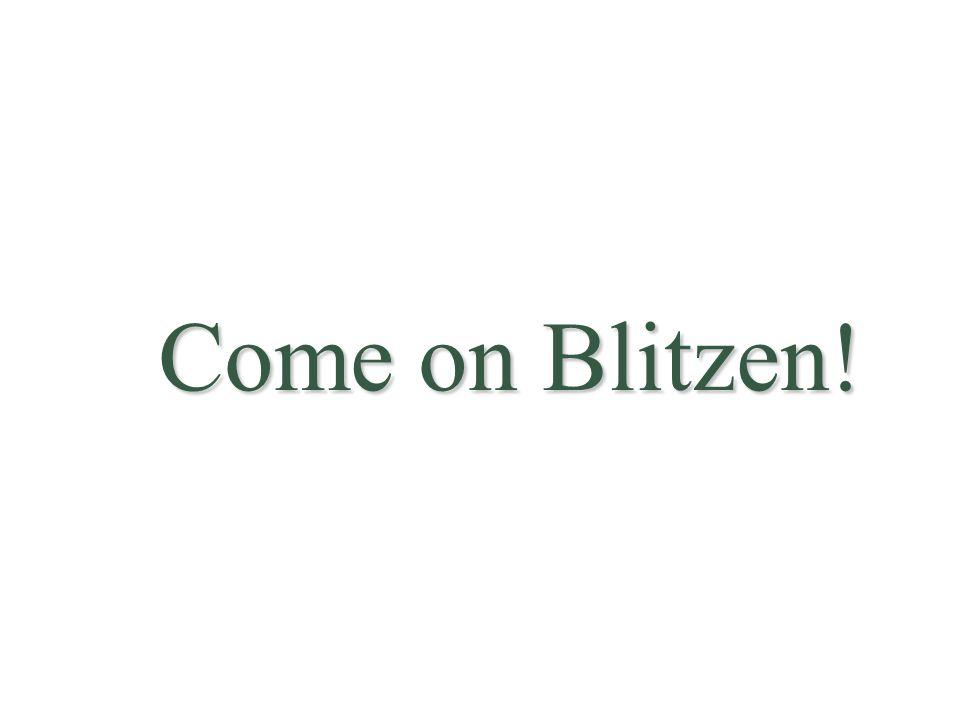 Come on Blitzen!