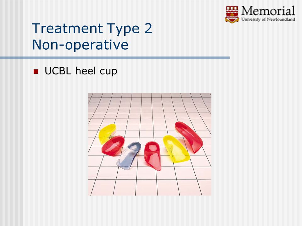 Treatment Type 2 Non-operative UCBL heel cup