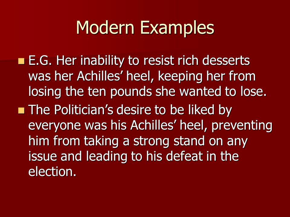 Modern Examples E.G.