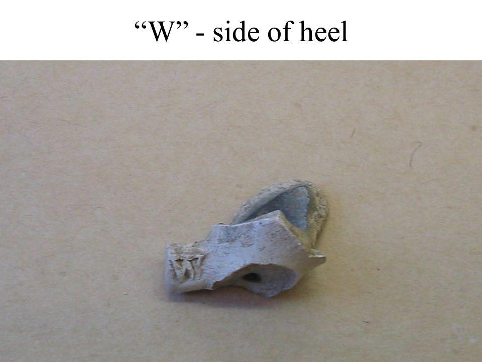 """""""W"""" - side of heel"""