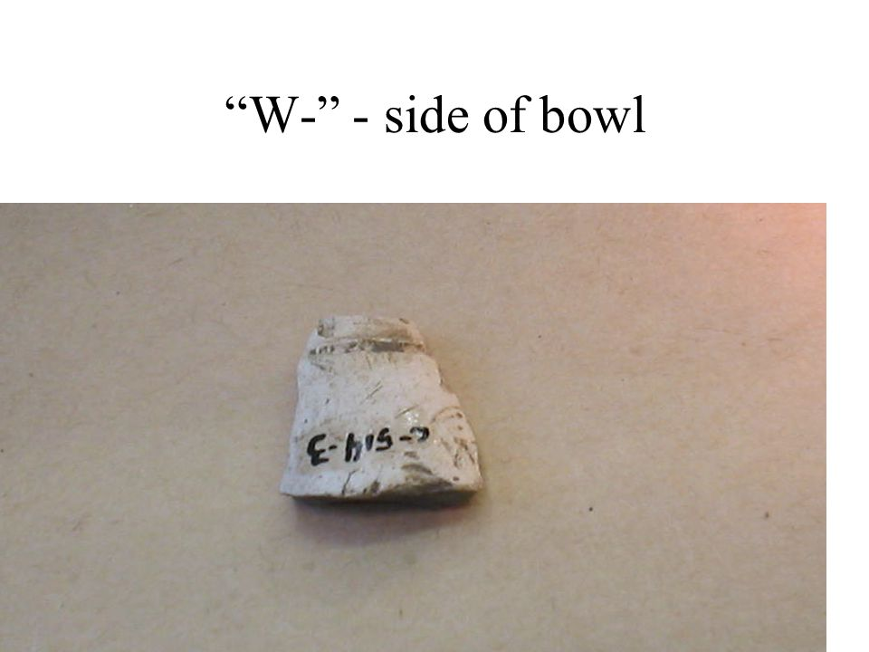 """""""W-"""" - side of bowl"""