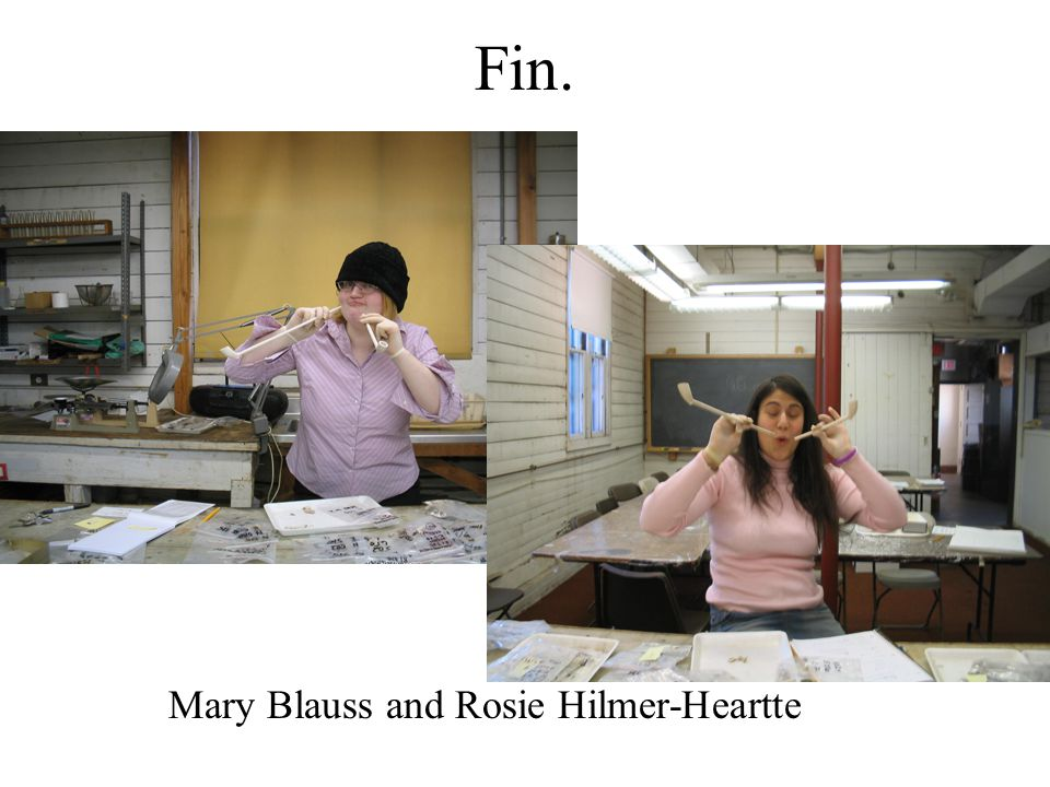 Fin. Mary Blauss and Rosie Hilmer-Heartte