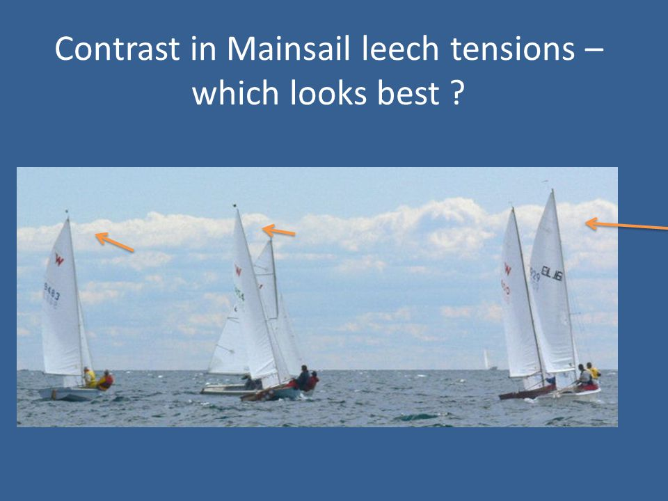 Contrast in Mainsail leech tensions – which looks best