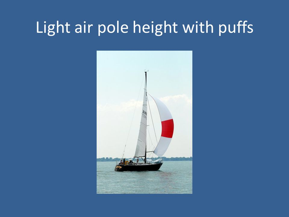 Light air pole height with puffs