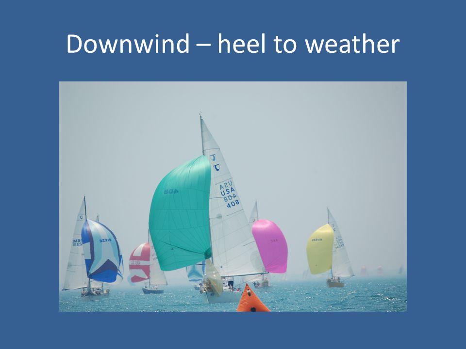 Downwind – heel to weather