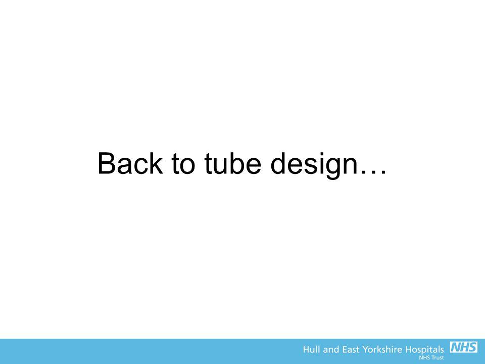 Back to tube design…