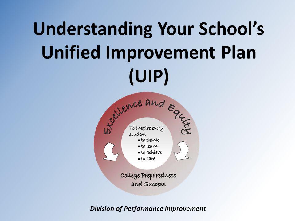 Understanding Your School's Unified Improvement Plan (UIP) Division of Performance Improvement