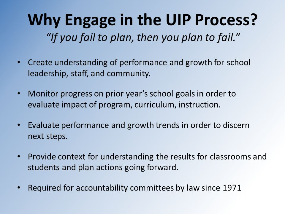 Why Engage in the UIP Process.